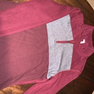 Calvin Klein maroon quarter zip pullover